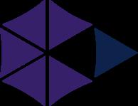 Multi-colored icon representing character.
